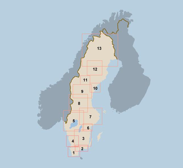 Schweden Karte Regionen.Skan Kristallin